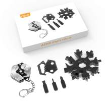 Aerb EDC Keychain Multitool Kit Snowflake Multi Tool - Key Chains for Mens/Gadgets for Men/EDC Gift Set/Survival Gear Kit + Screwdriver Set + Wrench + Cutter + Bottle Opener, Great Gift Tools for Men