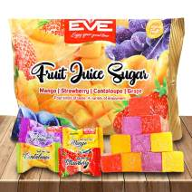 British Fruit Jelly Sweets, Tasty Assorted Candy Snack, 4 Flavors Strawberry Grapes Cantaloupe and Mango, for TikTok Jelly Fruity Candy Challenge, Halloween Candy, Gummies Fruit Flavor Bulk (450)