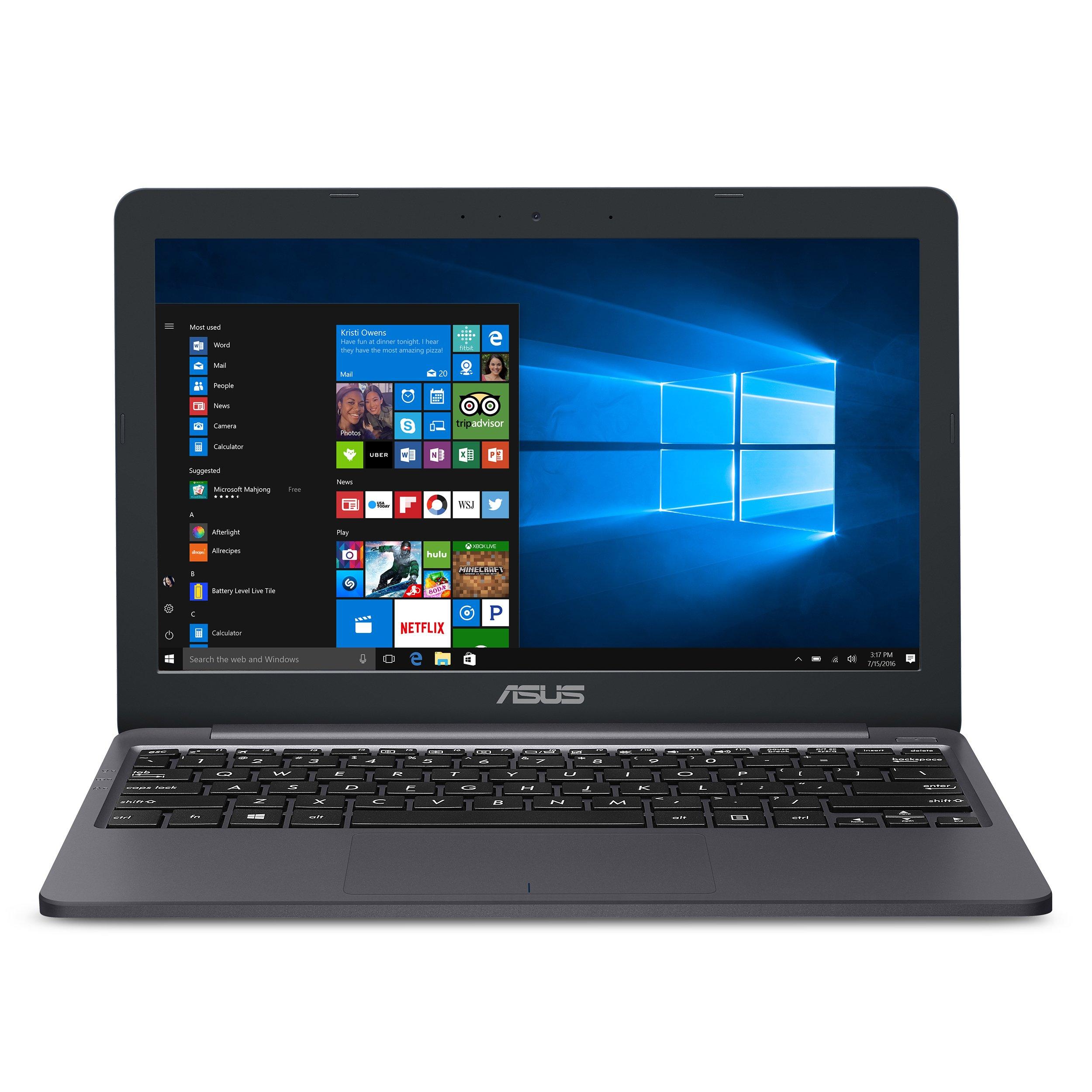 "ASUS VivoBook E203MA Ultra-Thin Laptop [2019 Version], Intel Celeron N4000 Processor (up to 2.6 GHz), 4GB LPDDR4, 64GB eMMC, 11.6"" HD, USB-C, Windows 10 S mode (Switchable to Pro), E203MA-YS03"