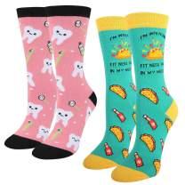 SOCKFUN Women Teeth Taco Watermelon Pineapple Chicken Socks Gift Box Value Pack
