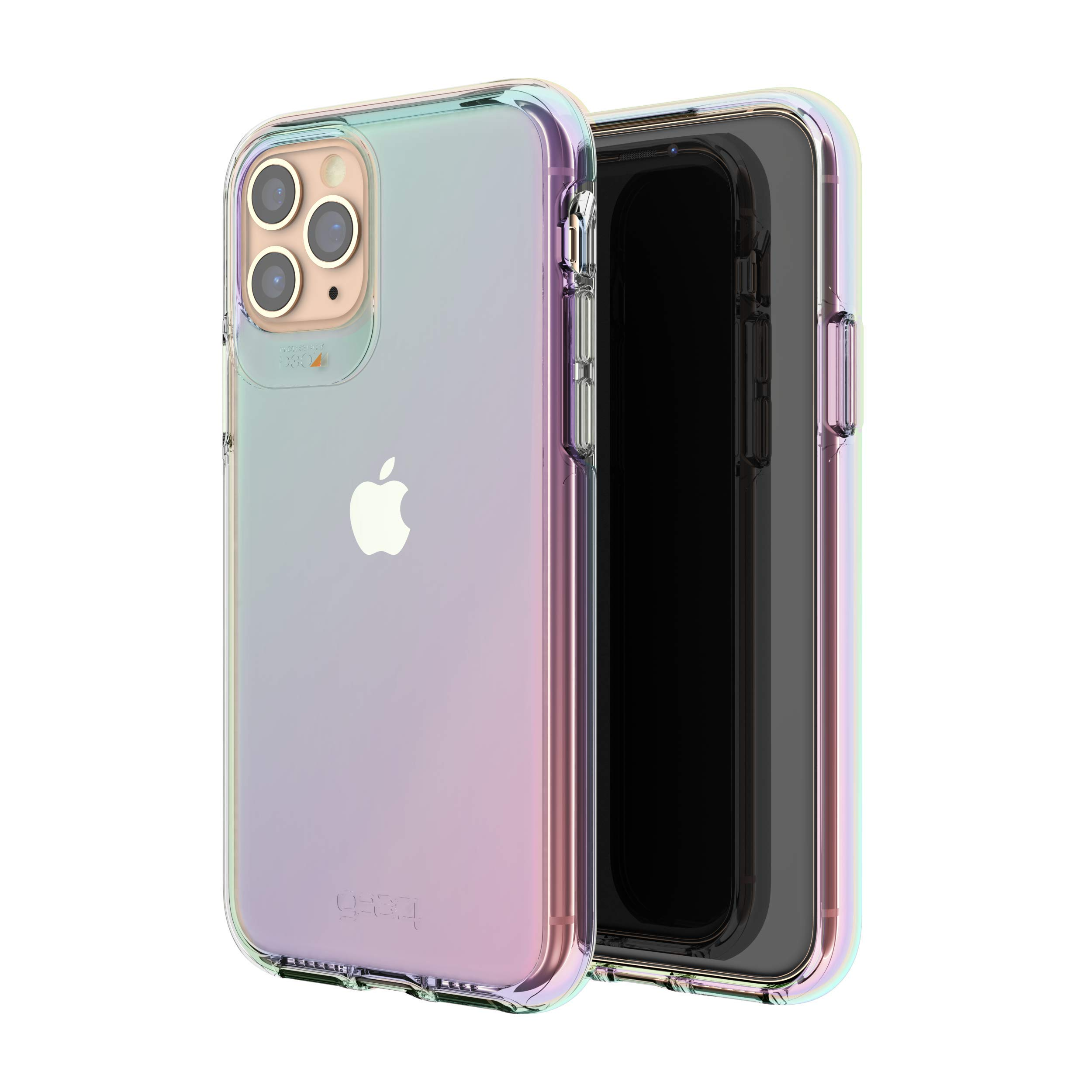 Gear4 Crystal Palace Iridescent Compatible with iPhone 11 Pro Case, Advanced Impact Protection with Integrated D3O Technology, Anti-Yellowing, Phone Cover – Iridescent