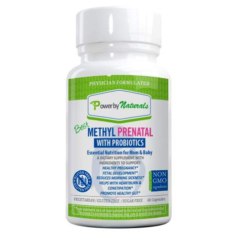 PbyN - Dr Formulated - Best Methyl Prenatal Vitamins with Probiotics, l-methylfolate, Methylcobalamin (Active B12), Iron, Iodine, and All Essential Nutrients for Healthy Mom and Baby -60-Caps