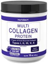 Multi Collagen Powder   16.2 oz   Type I, II, III, V, X   Hydrolyzed Collagen Peptide Protein Powder   Keto & Paleo Friendly   Unflavored   Non-GMO, Gluten Free   by Horbaach