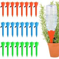 Fostoy Plant Waterer, 24 PCS Self Plant Watering Spikes System with Slow Release Control Valve Switch, Automatic Plant Waterer Device Irrigation Drippers for Outdoor Indoor Flower or Vegetables