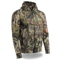Milwaukee Leather MPM1776SET Mens Zipper Mossy Oak Camo Heated Hoodie and Portable Battery Pack - X-Large