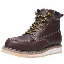 HISEA Work Boots for Men Soft/Steel Toe Boots Waterproof Breathable EH and Slip Resistant