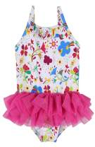belamo Baby Girl's One Piece Swimsuit Polka Dot Skirt Swimwear Bowknot