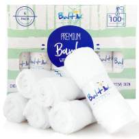 Bamboo Baby Washcloths Organic – Perfect for Face Towels, Hands, Sensitive Skin and Newborn - Natural Reusable Wipes with A Soft Cotton Blend and Ultra Absorbent - Ideal Baby Shower Gift.