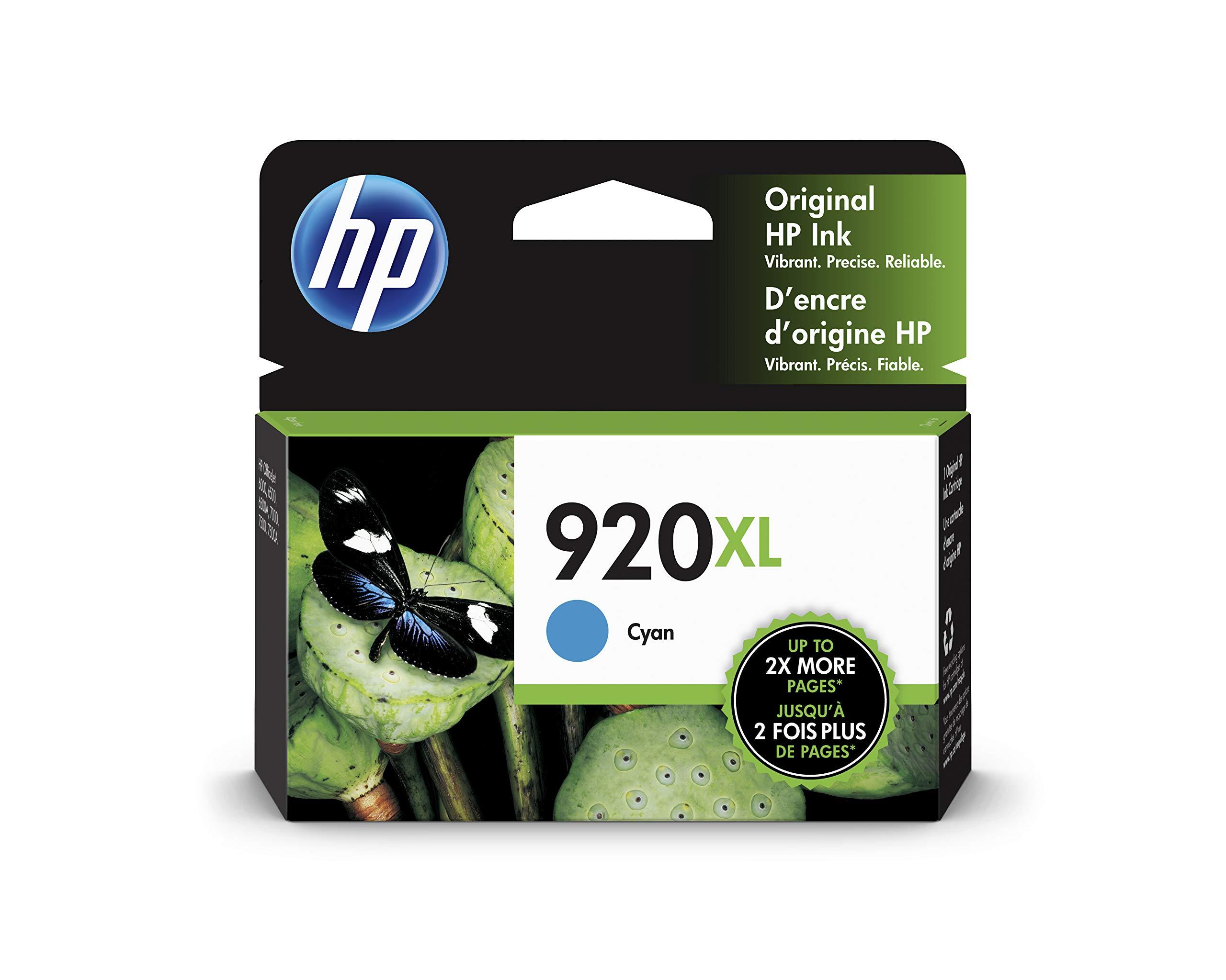 HP 920XL   Ink Cartridge   Cyan   CD972AN