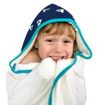 Kids Hooded Bath Towel | Extra Soft & Thick 500 GSM Bamboo Terry | Hypoallergenic & Eco-Friendly | Extra Large Toddler to Kids Bath Towel with Hood for Boys & Girls After Beach, Pool, or Swim