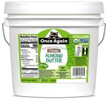 Once Again Organic, Creamy Almond Butter - Lightly Toasted - Salt Free, Unsweetened - 9 lb Bucket