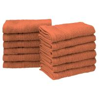 "Superior Eco-Friendly 100% Ringspun Cotton, 12 Piece Face Towel Set (13"" x 13"") in Copper"