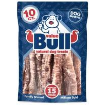 ValueBull USA Lamb Trachea Dog Chews, 4-7 Inch, 10 Count