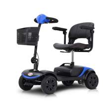 4 Wheels M1 Lite Mobility Scooter Deliver with Long-Lasting Batteries and Electromagnetic Brake Easy Operation and Disassembly Mobility Scooter for Family Daily Use, Short Travels and Cruises (Blue)