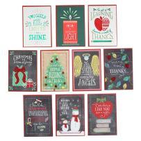 Hallmark Christmas Cards Assortment for Teachers or Babysitters from Children (10 Cards, Teacher) - 2299XXM3012