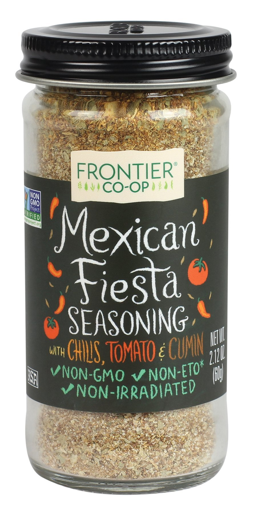 Frontier Seasoning Blends Mexican Fiesta, 2.12 Ounce Bottle (Pack of 12)