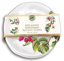Michel Design Easter Christmas Serveware Melamine 4 Piece Plate Set - Berry Patch