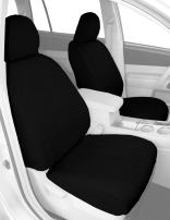 CalTrend Front Row 40/20/40 Split Bench Custom Fit Seat Cover for Select Chevrolet/GMC Models - SportsTex (Charcoal)