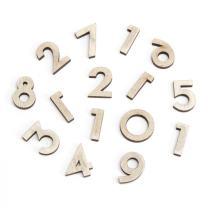 Darice DIY Traditional Distressed Grey Wood-Like Clock Numbers, 15 Piece