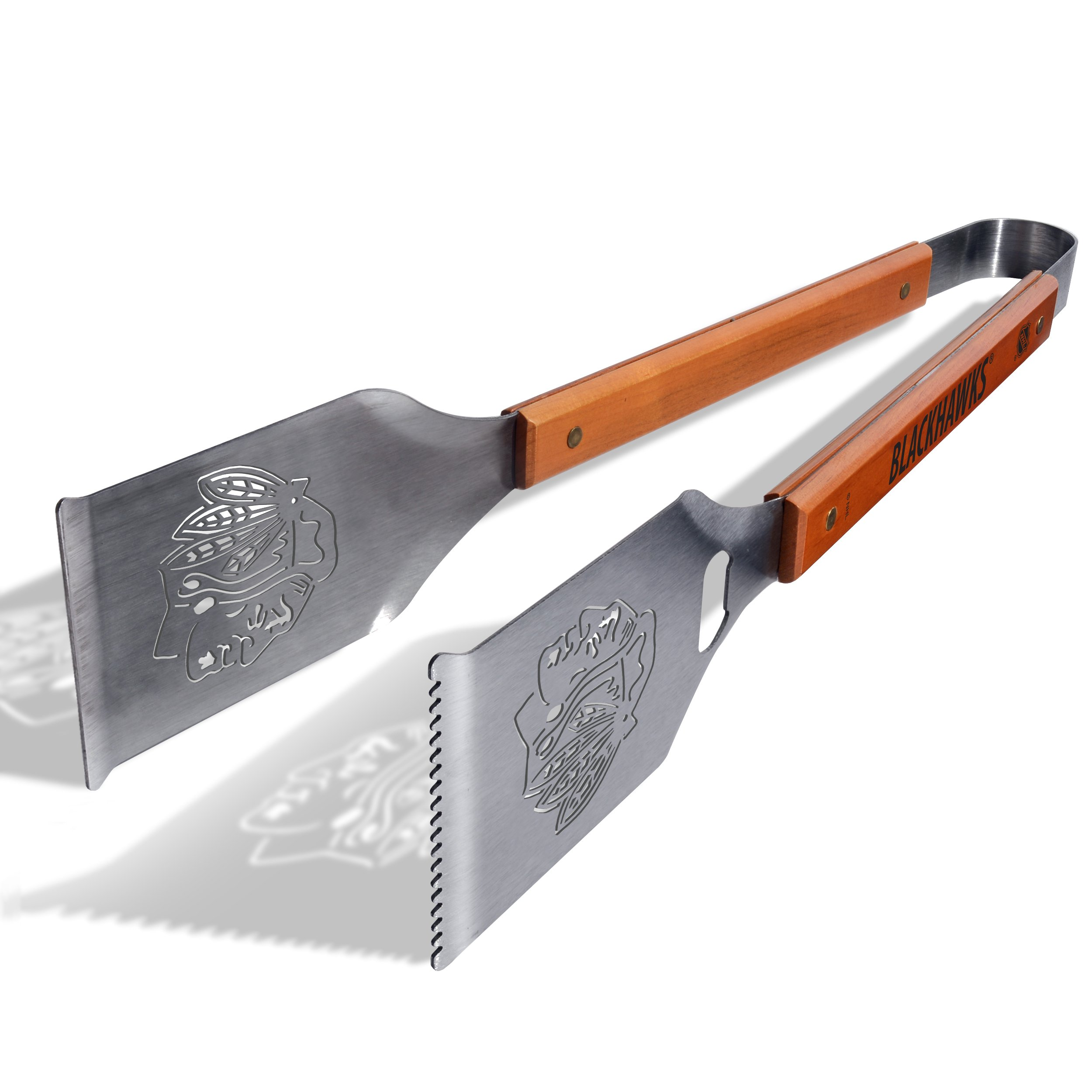 YouTheFan NHL Grill-A-Tongs:  18'' Stainless Steel Laser Cut Logo BBQ Tongs