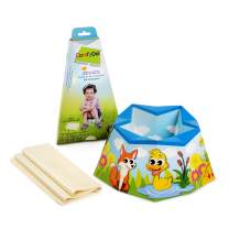 Tea and Lemon ComfyDo Foldable and Disposable Multiple-Use Travel Potty Training Seat, Azure
