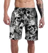Goodstoworld Men's Cool Swimtrunks Quick Dry 3D Printed Casual Hawaiian Mesh Lining Beach Board Shorts with Pockets S-XXXL
