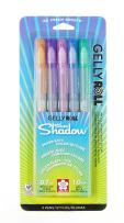Sakura 58530 5-Piece Gelly Roll Assorted Colors Silver Shadow Pen Set