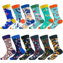 Colorful Crew Socks Novelty Fun Cute Crazy Happy Patterned Sock Cotton Stocking Packs