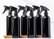 Empty Spray Bottles 16oz (6-Pack) Black Aluminum Spray Bottles, Cleaning Bottles, BBQ, Hair Salons, pet Spray, Household Cleaning, Restuaruants