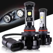 Max5 LED Headlight Bulbs 9005 CREE Chips 12000 Lumens 6000K Anti Flicker 9005 Led Headlight Kit Led Conversion Kit, 2 Years Warranty…