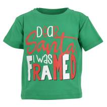 Unique Baby Boys Dear Santa I was Framed Christmas T Shirt