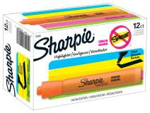 Sharpie 25006 Tank Style Highlighters, Chisel Tip, Fluorescent Orange, Box of 12