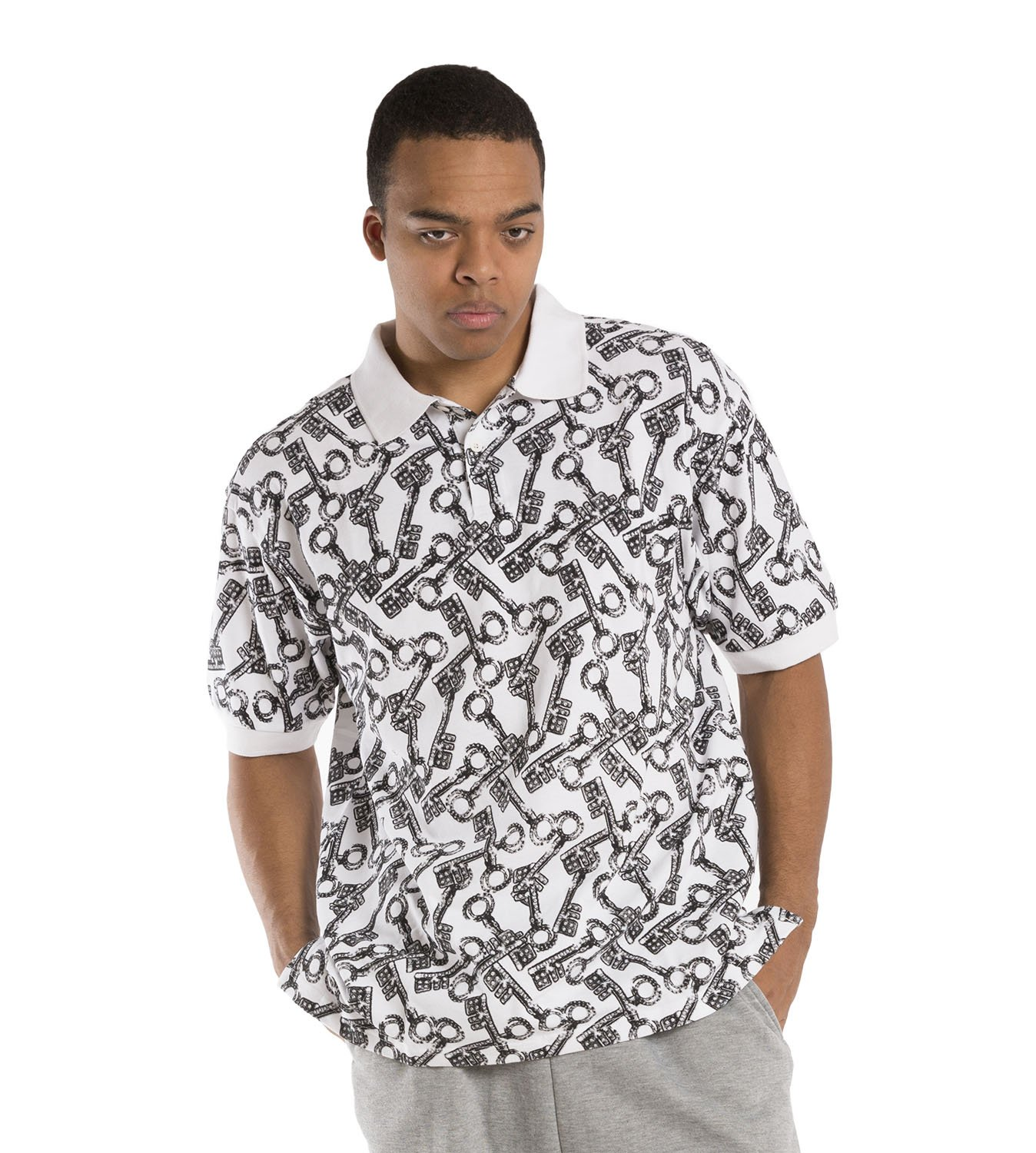 Vibes Men's Polo Pique Shirts Relax fit Variety of Fashion Print Short Sleeve