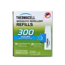 Thermacell Mosquito Repellent Refills, 300-Hr Pack; Contains 75 Repellent Mats, 25 Fuel Cartridges; Compatible with Any Fuel-Powered Thermacell Product; No Spray, Scent, Mess; 15 Ft Zone of Protection