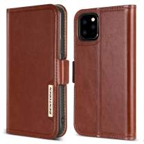 BENTOBEN iPhone 11 Pro Wallet Case, iPhone 11 Pro Wallet Phone Case, Flip Leather Cover 3 Credit Card Holder Cash Slots Protective Kickstand Phone Cases for iPhone 11 Pro 5.8 Inch(2019 Release), Brown