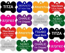 CNATTAGS Pet ID Tags, Premium Aluminum, 8 Colors to Choose