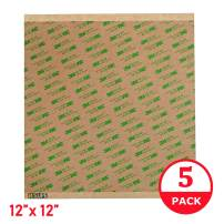 "Adhesive Transfer Tape, Double Sided Transfer Sheet, 12"" x 12"" 3M 468MP (5 Pack)"