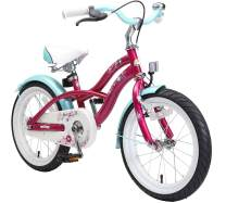 BIKESTAR Safety Sport Kids Bike Bicycle with sidestand for Age 4 Year Old Children | 16 Inch Cruiser Edition for Boys and Girls |