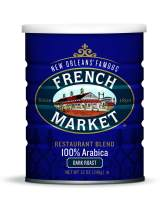 French Market Coffee, Restaurant Blend Dark Roast, 12 Oz Can (Pack of 3)