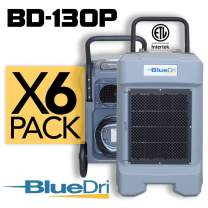 BlueDri BD-130P 225PPD High Performance Industrial Commercial Dehumidifier Grey, Pack of 6