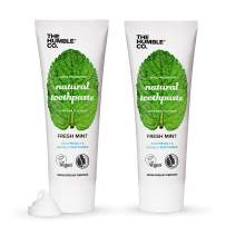 The Humble Co. Natural Fluoride Toothpaste (2 Pack) - Eco-Friendly, Vegan for Your Everyday Oral Care - Dentist Approved - Prevents Bad Breath, Caries, Plaque, (Adults and Kids) (Fresh Mint)