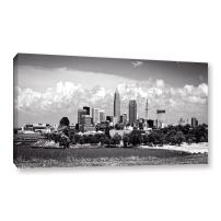 ArtWall Cody York's Cleveland Pano 1 Gallery-Wrapped Canvas Artwork, 24 by 48-Inch