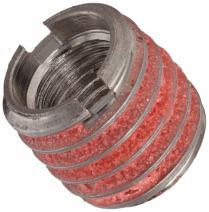 """E-Z Lok Externally Threaded Insert, 303 Stainless Steel, #10-24 Internal Threads, 3/8""""-16 External Threads, 0.406"""" Length, Made in US"""