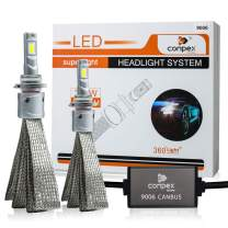 9006 LED Headlight Bulbs Conversion Kit Anti Flicker with Hi/Lo Beam, 10000LM, 6000K Xenon Cool White with 2-year Warranty