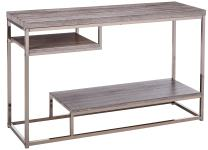 Coaster Home Furnishings 2-Shelf Sofa Table Weathered Grey and Black Nickel