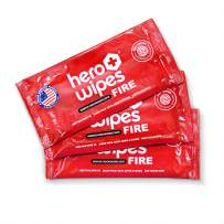 Hero Wipes Body Wipes Removes 98% of Carcinogens - All Natural Alcohol Free Formula - Removes Soot, Smoke, Toxins and Lead - Made in USA 120 Individually Wrapped Wipes