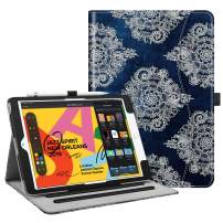 "Fintie Case for New iPad 7th Generation 10.2 Inch 2019 - [Corner Protection] Multi-Angle Viewing Folio Smart Stand Back Cover with Pocket, Pencil Holder, Auto Wake/Sleep for iPad 10.2"", Indigo Dreams"