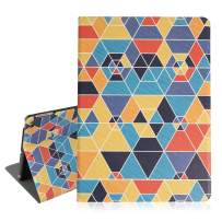 Hi Space iPad Air 9.7 Case Geometric Colorful, iPad Air 1/2 5th/6th Gen 2017 2018 Folio Stand Tablet Smart Case Cover with Auto Sleep Wakeup Function
