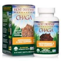 Host Defense, Chaga Capsules, Antioxidant and DNA Support, Daily Mushroom Supplement, Vegan, Organic, 120 Capsules (60 Servings)