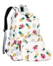 Leaper Pineapple Girls Backpack School Bookbag Insulated Lunch Bag Pencil Case